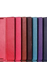 einfarbig hochwertigen PU-Leder Ganzkörper-Klappkasten für lenovo A7600 a10-70 (farblich sortiert)