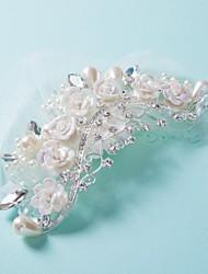 Korea Fimo Beaded Water Drills Clip Hairpin Wedding Bride Headdress