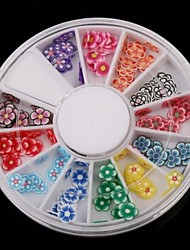 12-Color Fruit Design Polymer Nail Art Decoration