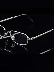 [Free Lenses] Metal Rectangle Full-Rim Classic Reading Eyeglasses