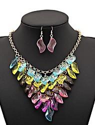 Women's Fashion Multi-level Flowers Alloy Necklace