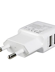 EU Plug Dual USB Power Adapter Wall Charger for iPad, iPhone & Samsung
