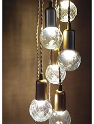 3W Traditional/Classic / Rustic/Lodge / Vintage / Retro / Lantern / Drum / Country / Globe LED / Mini Style Painting Glass Pendant Lights