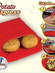 New High Quality Practical Fast Easy Red Potato Washable Microwave Bag Steam Pocket Bake Potato in 4 Minutes
