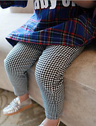 Girl's Check Pants,Cotton Winter
