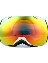 BASTO Pure White Frame Dustproof & Anti-UV Mirror Lens Skiing Snow Goggles