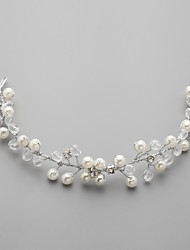Women's Flower Girl's Alloy Imitation Pearl Cubic Zirconia Headpiece-Wedding Headbands Flowers