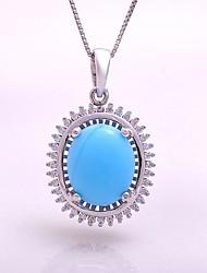 AS 925 Silver Jewelry   Lan Yushi 11MM fine Oval Pendant