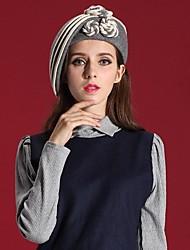 100 mulheres% lã outdoor / festa / casual / feriado do vintage de chapéus de feltro&Caps (mais cores)