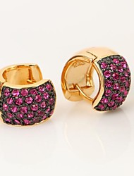 Crystal Two Tone Huggie Earrings for Women(More Colors)