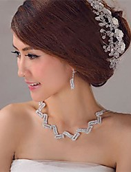 Women's / Flower Girl's Crystal Headpiece-Wedding Tiaras