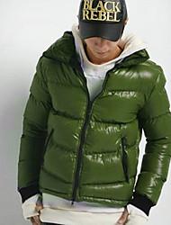 estande pescoço costela de malha casaco cuff algodão de Momo mulheres