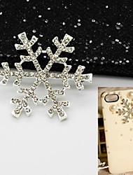 1pcs accessori in lega 3,8 centimetri fiocco di neve incorporati incorporato handmade strass materiale mestiere diy