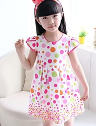 Girl's Red Dress Cotton Summer