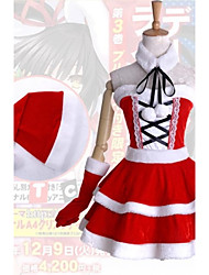 Inspired by Date A Live Kurumi Tokisaki Anime Cosplay Costumes Cosplay Suits / Dresses Patchwork White / Red SleevelessDress / Hat /
