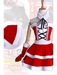 Date A Live Kurumi Tokisaki Cosplay Christmas Costume (One Size:Bust 70-95cm, Waist 65-75cm)