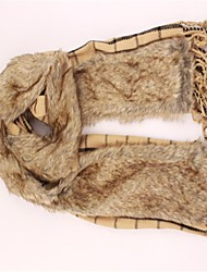 женская квадратная сетка воротники пушистый шарф верблюда