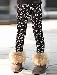 Girl's Black Leggings Cotton Winter / Spring / Fall