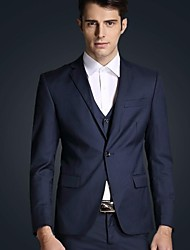 Men's Korean Style Slim Business Casual Suit (Blazer&Vest&Pants)