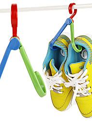 cabide de sapatos de plástico 1 pcs (cor aleatória de entrega)