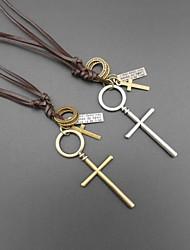 cuir classique de symbole de quelques collier pandant (1pc)