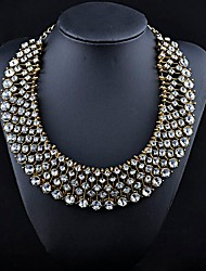 Manluo Western Style Fashion Alloy Full Drilled  Necklace