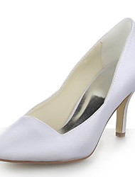 Women's Wedding Shoes Heels/Pointed Toe Heels Wedding Black/Blue/Yellow/Pink/Purple/Red/Ivory/White/Silver/Champagne