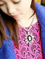 girasole zaffiro maglione catena collana delle donne
