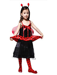 Halloween Costumes for Children infant Clothing Ladybug insect flower Fairy Costume Dance Dress