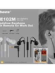 jabees®universal design sportif dans l'oreille écouteur filaire avec microphone pour iphone
