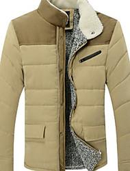 WAN cou stand confortable manches longues manteau gaine de coton pour hommes