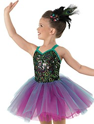Ballet Dance Dancewear Children's Sequin Peacock Ballet Tutu Dress Kids Dance Costumes