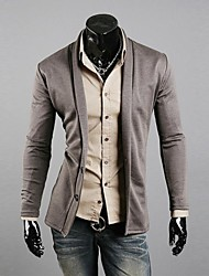 Men's Fashion Lapel Two Button Long Sleeved Cardigan