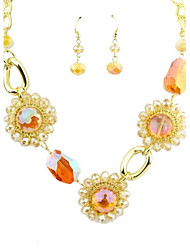 2014 New Arrivals Chunky Rhinestone Wholesale Costume Fashion Jewelry Set