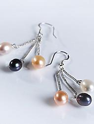 Chandelier Earrings Women's Sterling Silver Earring Pearl