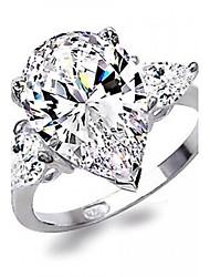 три слезинки CZ обручальное кольцо