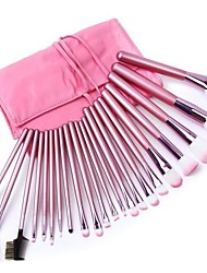 Professional Makeup Brush Set with 22Pcs Pink Brushes and Bag