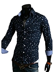Men's Fashion Stars Printing Long Sleeve Shirt