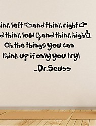 Wall Stickers Wall Decals, Home Decoration Dr.Seuss Quotes Mural PVC Wall Stickers