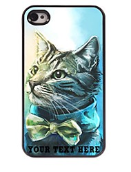 Personalized Phone Case - Lovely Cat Design Metal Case for iPhone 4/4S