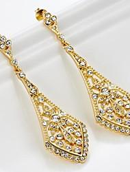 cristal filigrana brincos chandelier vintage para as mulheres (mais cores)