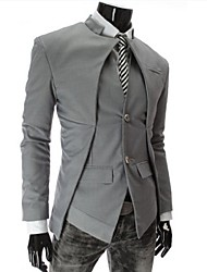 first brand Men's Suits & Blazers , Cotton Blend Long Sleeve Casual