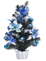 Table Decoration Plastic Potting Christmas Tree - Blue + Green
