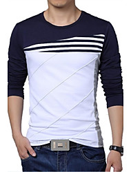 Men's Round Neck Long-sleeved T-shirt