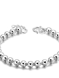 Aimei Women's 925 Silver Fashion Beads Bracelet