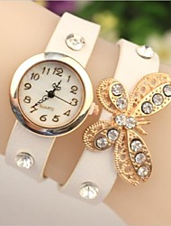 """Women's 2015 The Latest """"Butterfly"""" Fashion Leather Japanese Quartz Watch(Assorted Colors)"""