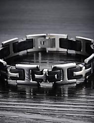 inoxydable hommes bracelet en acier de ssilicone classiques traversent la religion