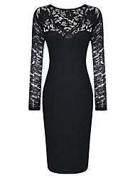 Women's A-Line Bodycom Long Sleeve Dress