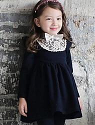 vestidos de la flor de la moda de vestidos de niña de invierno encantadora princesa