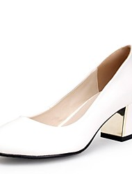Zapatos de mujer - Tacón Robusto - Tacones / Punta Redonda - Tacones - Vestido - Semicuero -Negro / Azul / Rosa / Rojo / Blanco / Plata /